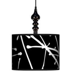 "Stacy Garcia Calligraphy Tree Black 13 1/2"" Wide Black Swag"
