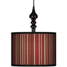 "Woven 13 1/2"" Wide Black Swag Chandelier"
