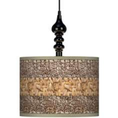 "Woven Fundamentals 13 1/2"" Wide Black Swag Chandelier"