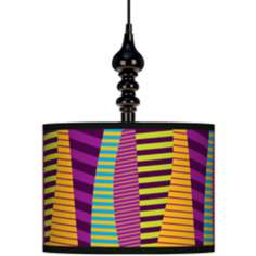 "Mambo 13 1/2"" Wide Black Swag Chandelier"