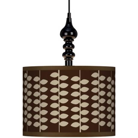 "Hi Fi 13 1/2"" Wide Black Swag Chandelier"