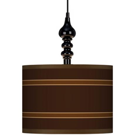 "Saratoga Stripe 13 1/2"" Wide Black Swag Chandelier"