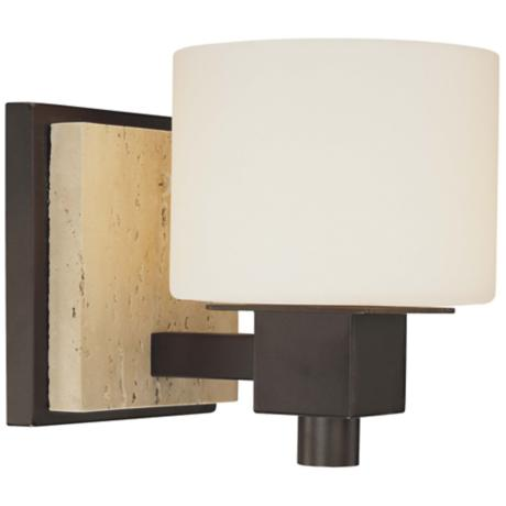 "Travertine Collection 6 1/2"" High Wall Sconce"