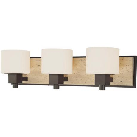 "Travertine Collection 24 1/4"" Wide Bathroom Wall Light"