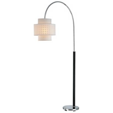 Lite Source Olina Chrome and Leather Wrap Arch Floor Lamp
