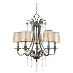 Kendra Silver Finish 5-Light Chandelier