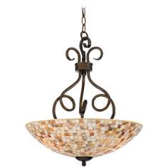 "Monterey Mosaic Malaga Finish 18"" Wide Pendant Light"
