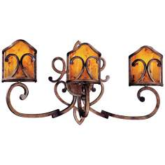 "Metropolitan Gran Canaria 30 1/2"" Wide 3-Light Wall Sconce"