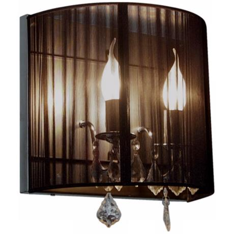 "Artcraft Claremont Black 13 1/4"" High 2-Light Wall Sconce"