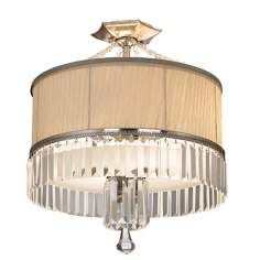 "Artcraft Newcastle 16 3/4"" Wide Crystal Ceiling Light"