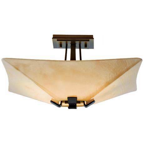"Vortis Collection Dark Smoke 14"" Wide Ceiling Light Fixture"