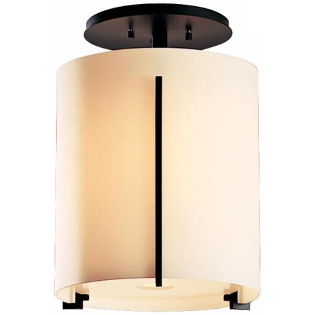"Exos Round Black 11 1/2"" Wide Ceiling Light Fixture"