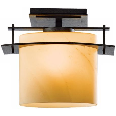 "Arc Ellipse Collection Natural Iron 13"" Wide Ceiling Light"
