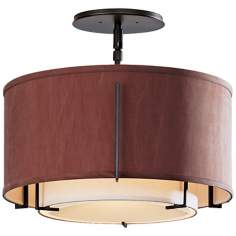 "Exos Collection Dual-Shade 16 1/4"" Wide Ceiling Light"
