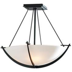 "Compass Collection Black 16"" Wide Ceiling Light"
