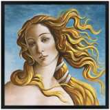 "Venus 26"" Square Black Giclee Wall Art"