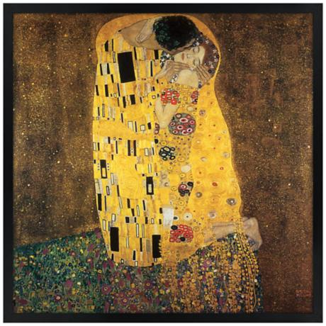"Embrace 26"" Square Black Giclee Wall Art"