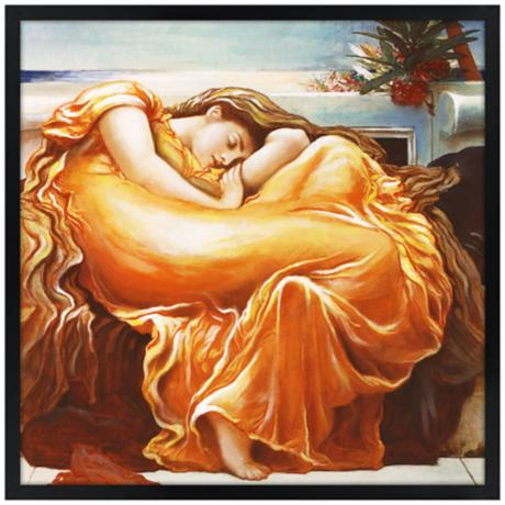"Sweet Dreams 26"" Square Black Giclee Wall Art"