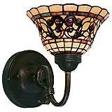 "Tiffany Buckingham 9"" High Wall Sconce"