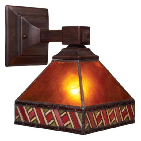 "Santa Fe Amber Mica 10"" High Wall Sconce"