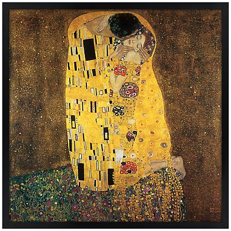 "Embrace 31"" Square Black Giclee Wall Art"