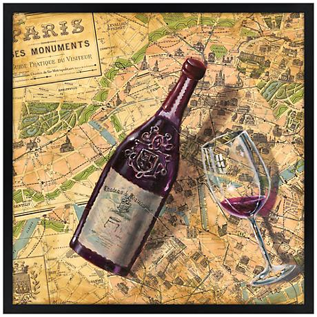 "Taste of Paris 31"" Square Black Giclee Wall Art"