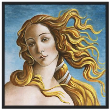 "Venus 37 1/2"" Square Black Giclee Wall Art"