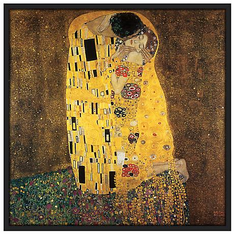 "Embrace 37 1/2"" Square Black Giclee Wall Art"