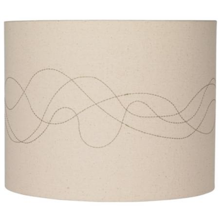 Linen Abstract Stitched Lamp Shade 14x14x11 (Spider)