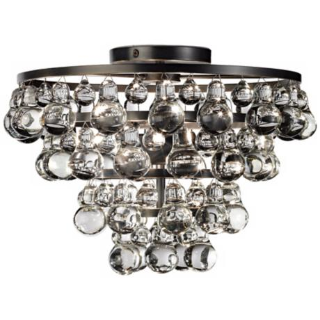 Bling Collection Patina Bronze Flushmount Ceiling Light