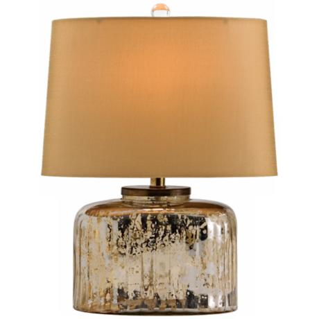 "Pelham Ribbed Glass 16 1/4"" High Table Lamp"