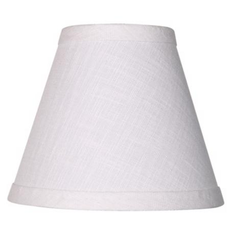 White Linen Empire Shade 3x6x5 (Clip-on)