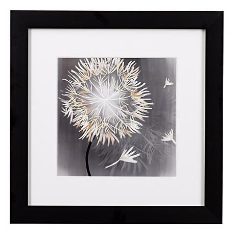 "Dandelions Close Ups B Framed Print 16"" Square Wall Art"