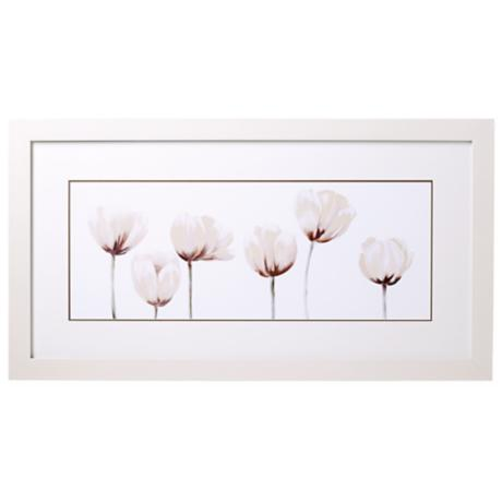 "White Tulip Line-up I 32"" Wide Print"