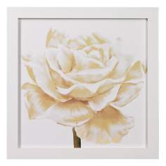 "White Roses Closeups B Framed 24"" Square Wall Art"