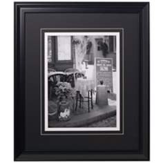 "French Curbside Bistro 24"" High Glass Covered Print"
