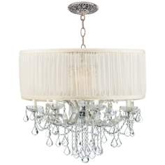 Brentwood Collection Chrome 12-Light Crystal Chandelier