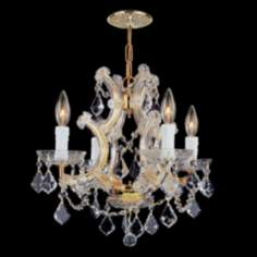 Maria Theresa Collection Gold 4-Light Chandelier