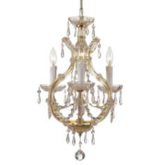 Maria Theresa Collection Gold Duo-Mount Chandelier