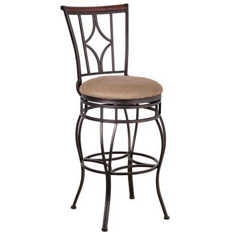 "Essex Dark Champagne Swivel 30"" High Bar Stool"