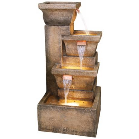 Ashboro Lighted Indoor-Outdoor Water Fountain - #K5050 | LampsPlus.