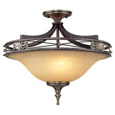 "Georgian Court Collection 21"" Wide Semiflush Ceiling Light"