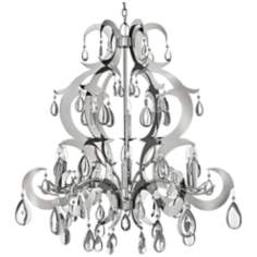 Fredrick Ramond Xanadu Stainless Steel 9-Light Chandelier