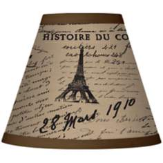 Letters to Paris Linen Giclee Set of Six Shades 3x6x5 (Clip-On)