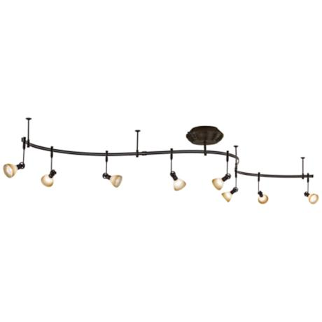 French Scavo Glass 8-Light Expandable Rail Track Light Kit