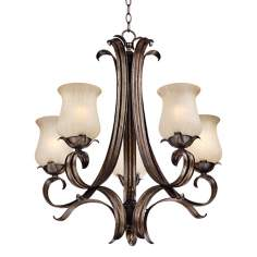 "Floret Collection Bronze 25 1/2"" Wide Chandelier"