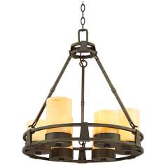 Sunset Onyx Stone 6-Light Faux Candle Chandelier