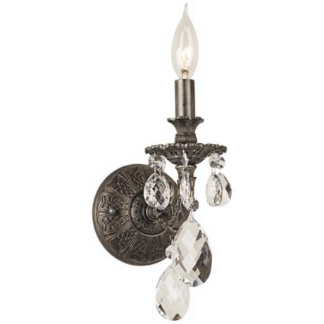 "Schonbek Milano Collection 13 1/2"" High Crystal Wall Sconce"
