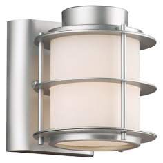 "Hollywood Hills Vista Silver 6"" High Outdoor Wall Light"