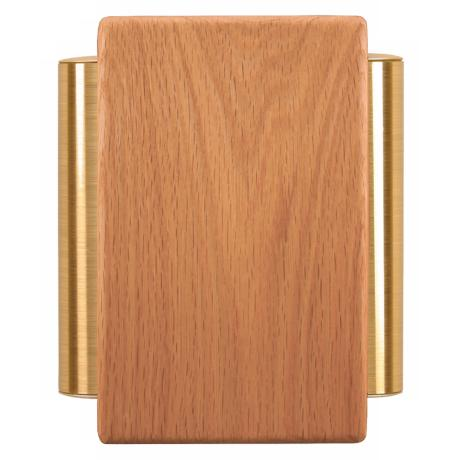Classic Golden Oak with Satin Brass Tube Door Chime
